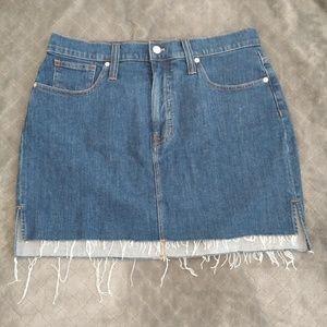 Stretch Denim Straight mini skirt